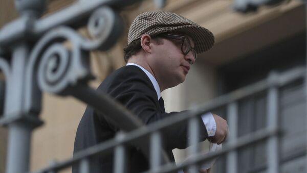 Simon Bowes-Lyon, hrabě ze Strathmoru před uložením rozsudku u soudu - Sputnik Česká republika