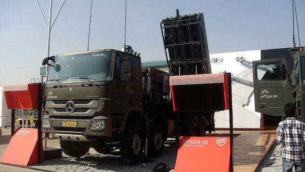 Izraelský mobilní protiletadlový raketový systém krátkého až středního dosahu SPYDER - Sputnik Česká republika