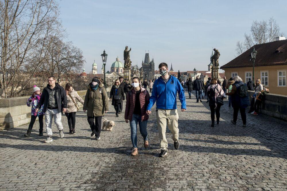 I v Praze zavládlo teplé počasí.
