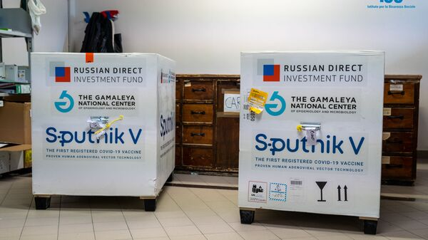 La prima fornitura del vaccino russo Sputnik V a San Marino - Sputnik Česká republika