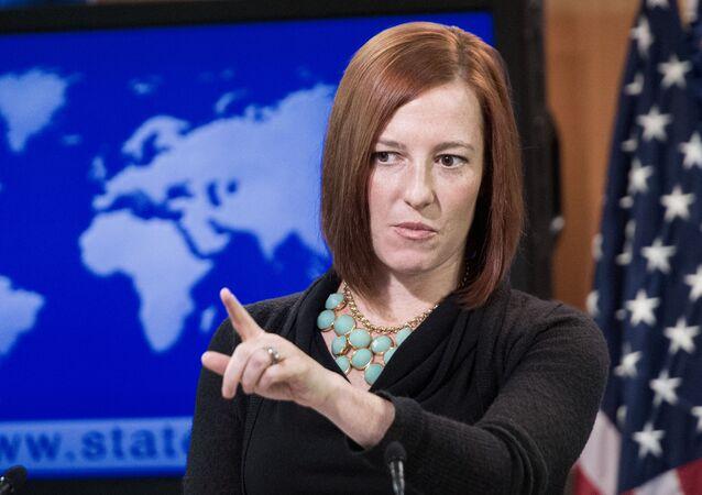 Tisková mluvčí Bílého domu Jen Psaki