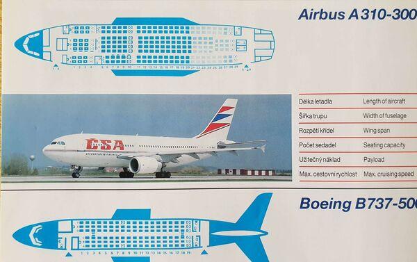Letový park ČSA v roce 1993 obsahoval jak západní, tak východní stroje. Pak se sitiace změnila... - Sputnik Česká republika