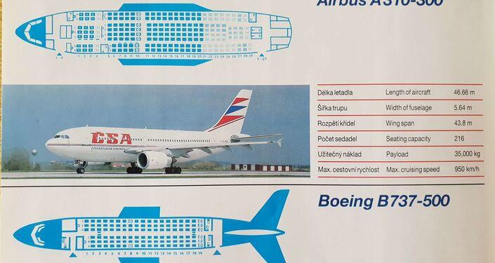 Letový park ČSA v roce 1993 obsahoval jak západní, tak východní stroje. Pak se sitiace změnila...