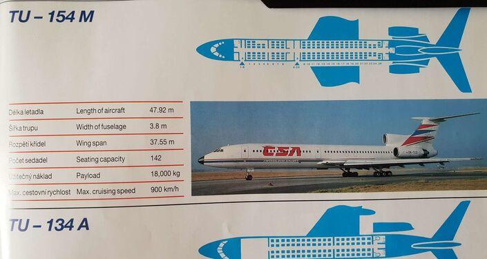 Letový park ČSA v roce 1993 obsahoval jak západní, tak východní stroje. Pak se sitiace změnila..., viz ČSA Review 1993