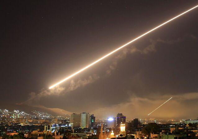 Americký útok v Sýrii v roce 2018. Ilustrační foto