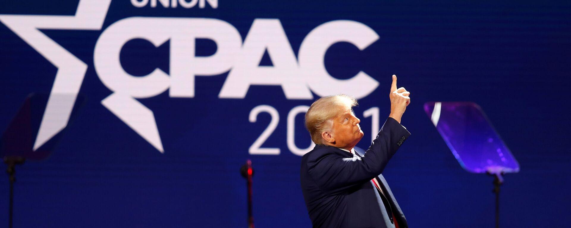 Bývalý americký prezident Donald Trump - Sputnik Česká republika, 1920, 01.03.2021