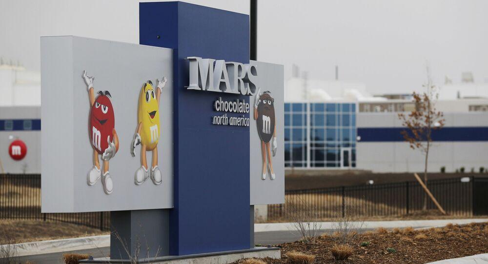 Vchod do závodu společnosti Mars Inc. v americkém Kansasu. Ilustrační foto