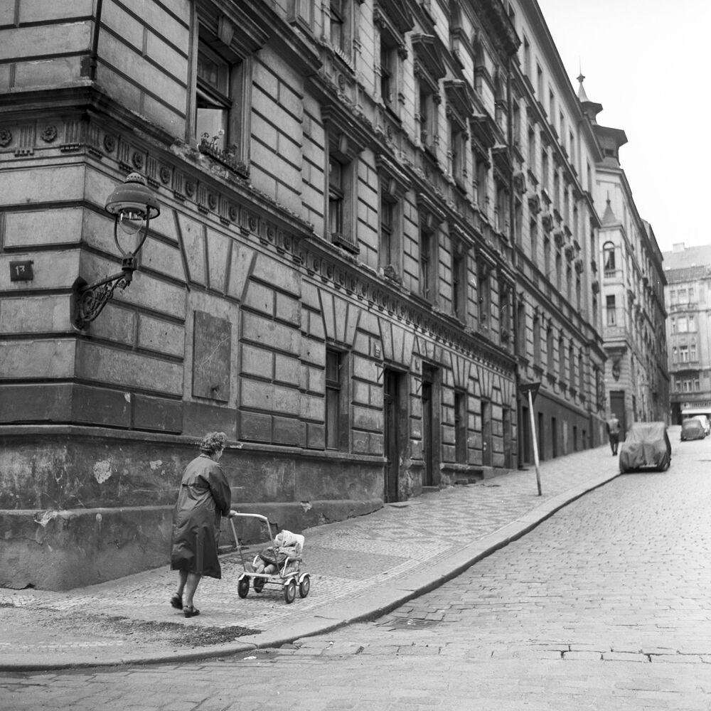 Dům v Praze, kde se Krupskaja setkala s českým sociálním demokratem Františkem Modračkem, 1967