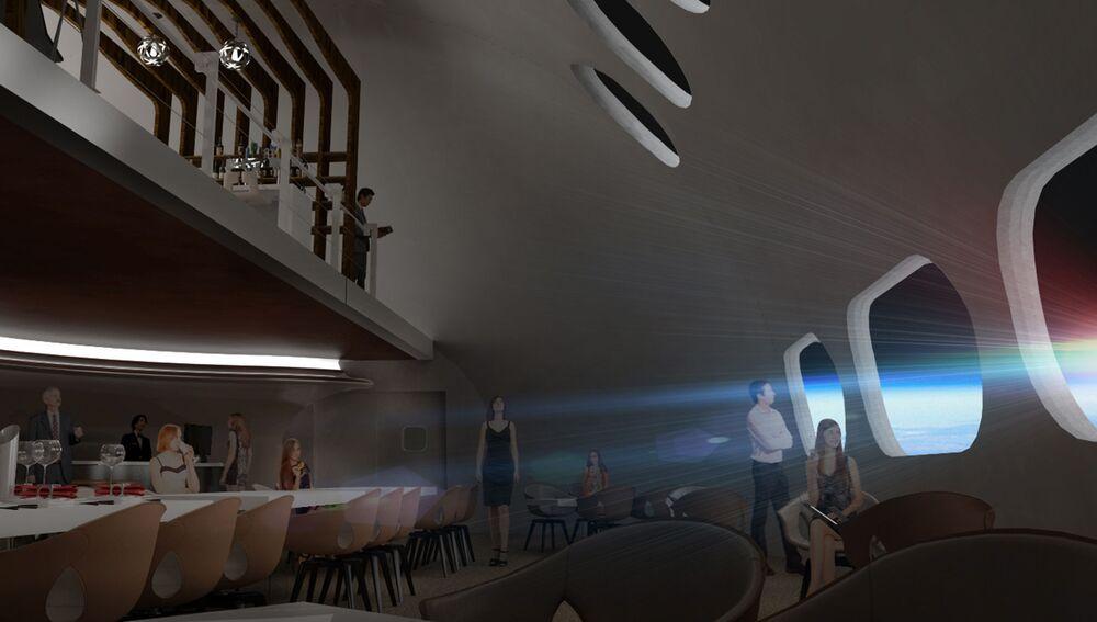 Restaurace ve vesmírném hotelu