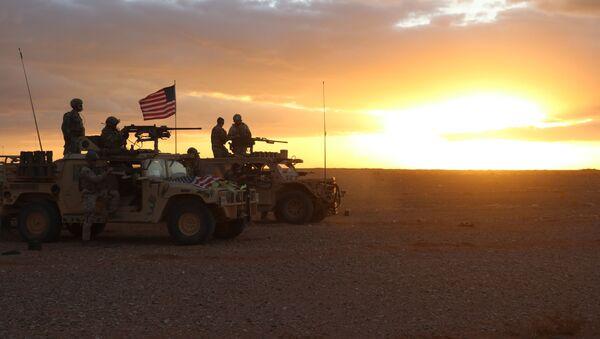 Americká armáda v oblasti vesnice Al-Tanf v Sýrii - Sputnik Česká republika