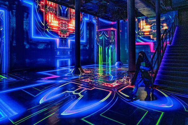 Audiovizuální instalace Julia Horsthuise v New Yorku.   - Sputnik Česká republika