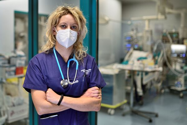 Lékařka Annalisa Malarová v nemocnici San Matteo v Pavii - Sputnik Česká republika