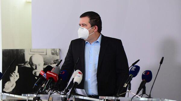 Vystoupení Jana Hamáčka na tiskové konferenci - Sputnik Česká republika