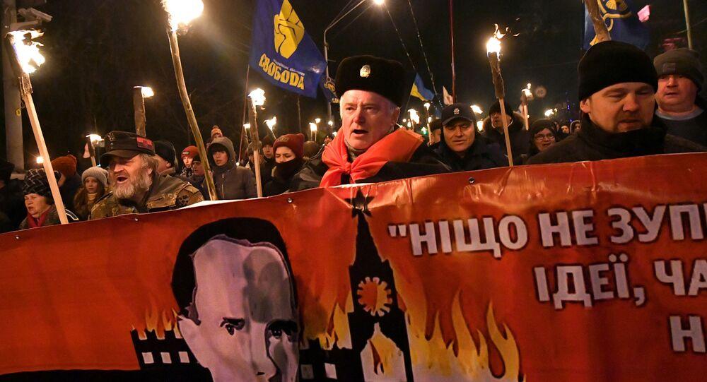Pochod k 111. výročí narození Štěpána Bandery v Kyjevě