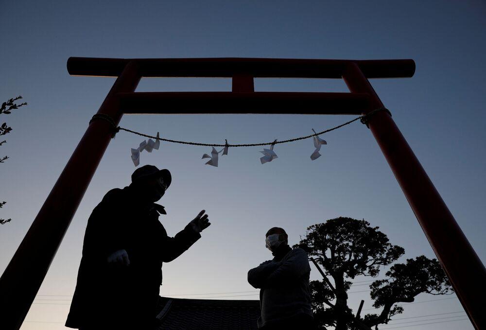 Ceremonie na památku obětí zemětřesení a tsunami r. 2011