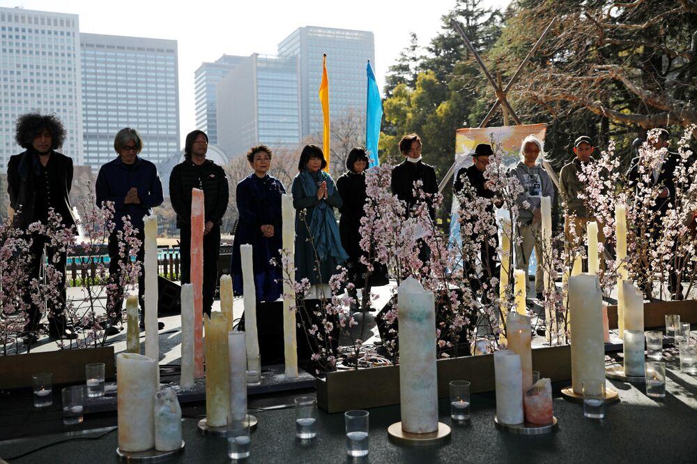 Minuta ticha na památku obětí zemětřesení r. 2011