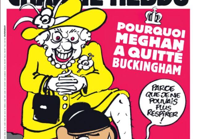 Obálka časopisu Charlie Hebdo, březen 2021
