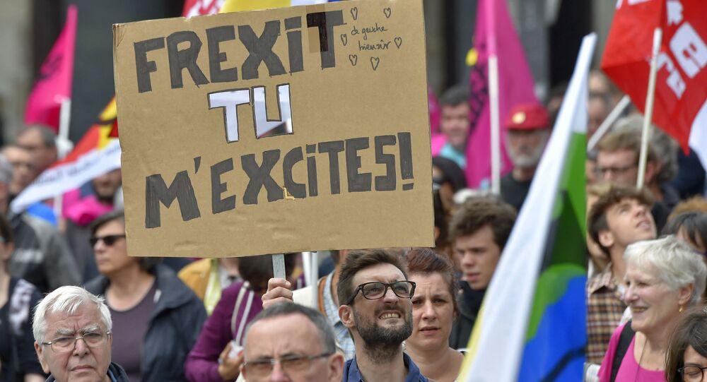 Protest proti pracovním reformám ve Francii