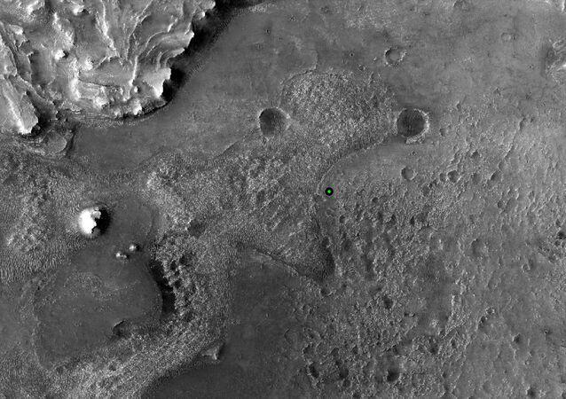 Místo přistání vozítka Perseverance na Marsu