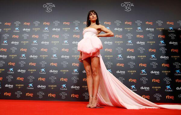 Španělská herečka Hiba Abouk během ceremonie udílení filmové ceny Goya. - Sputnik Česká republika