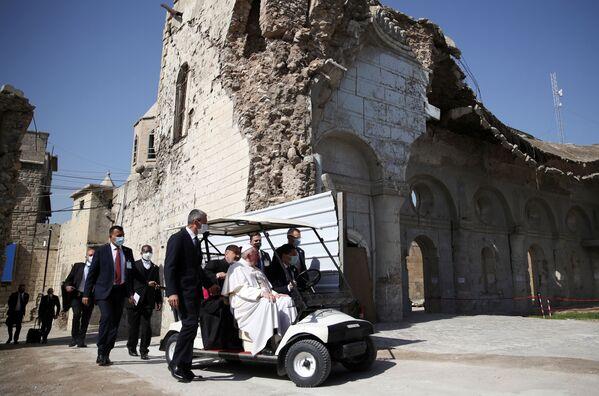 Papež František během návštěvy Iráku. - Sputnik Česká republika