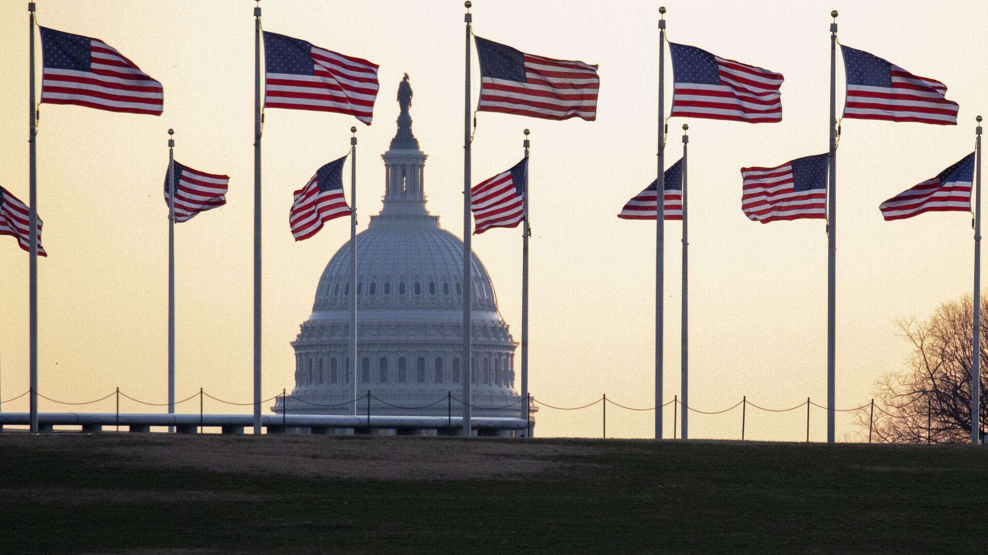 Americké vlajky ve Washingtonu - Sputnik Česká republika, 1920, 18.03.2021