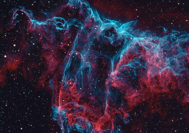 Mlhovina Řasy v souhvězdí Labutě