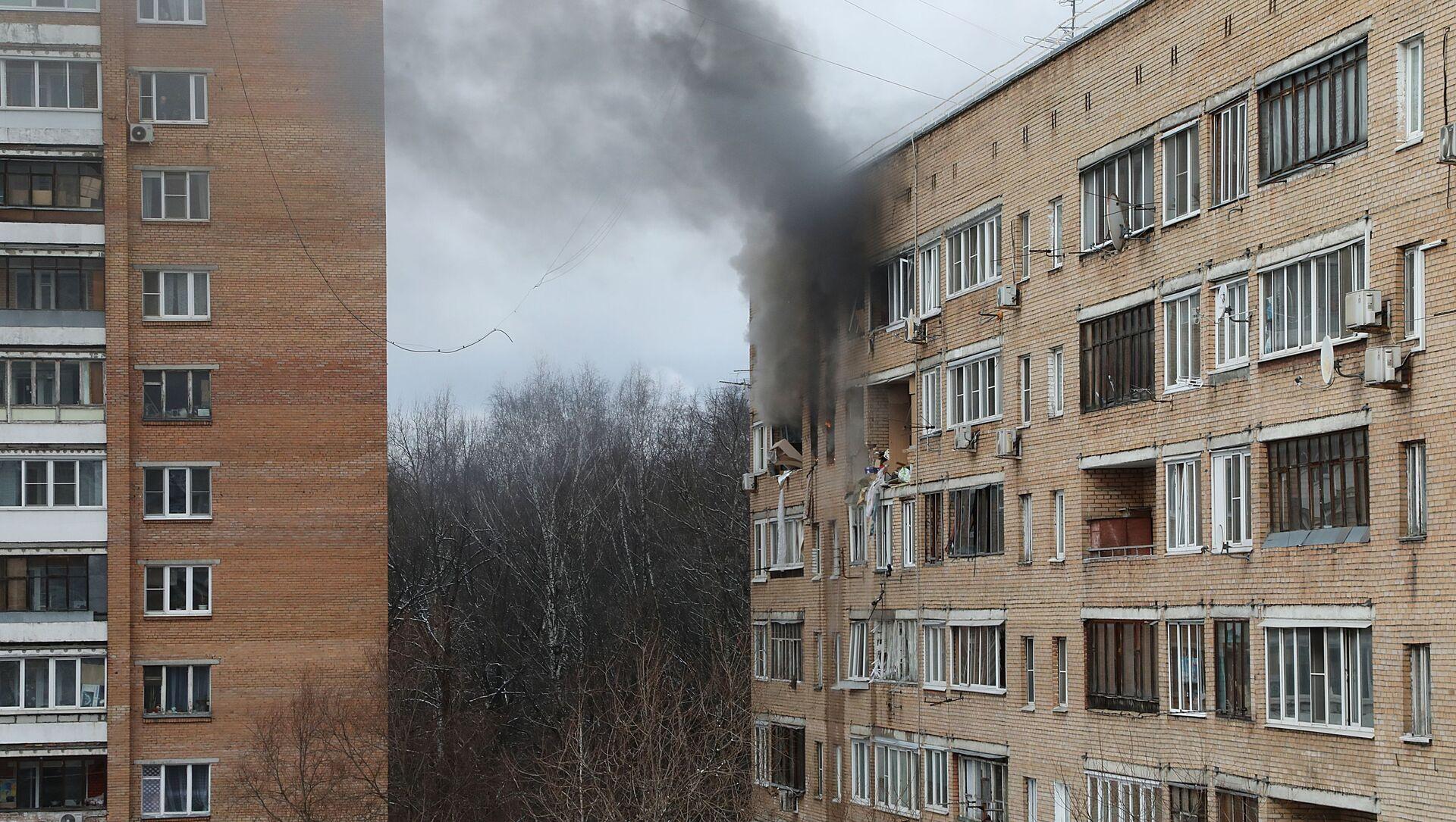 Městem Chimki poblíž Moskvy otřásl výbuch v bytovém domě - Sputnik Česká republika, 1920, 19.03.2021