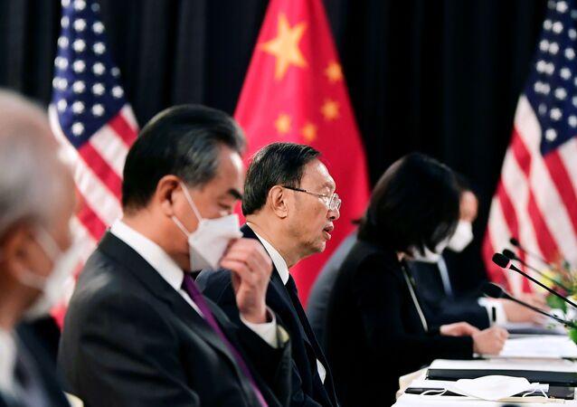 Jednání Číny a USA v aljašském městě Anchorage 19. března 2021