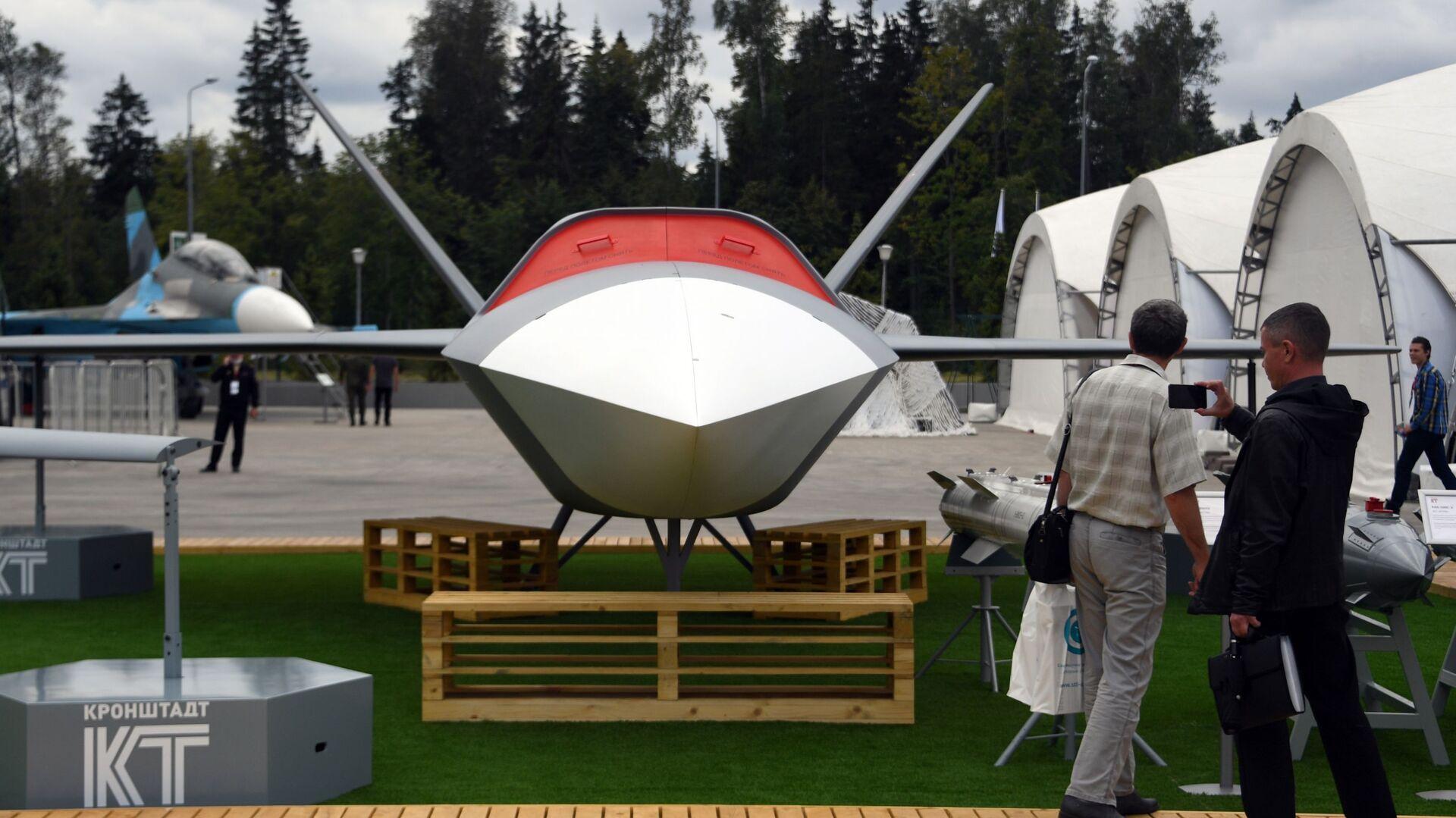Ruský bezpilotní stroj (BPLA) Grom (Hrom)  - Sputnik Česká republika, 1920, 20.04.2021