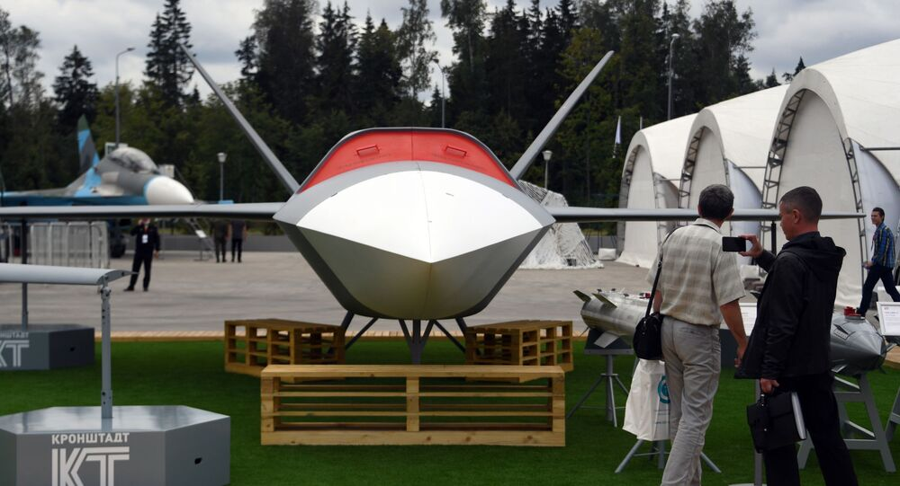 Ruský bezpilotní stroj (BPLA) Grom (Hrom)