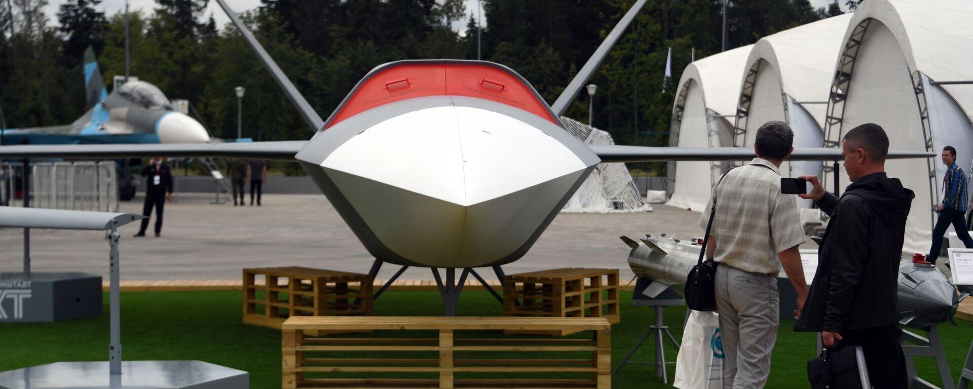 Ruský bezpilotní stroj (BPLA) Grom (Hrom)  - Sputnik Česká republika, 1920, 21.03.2021