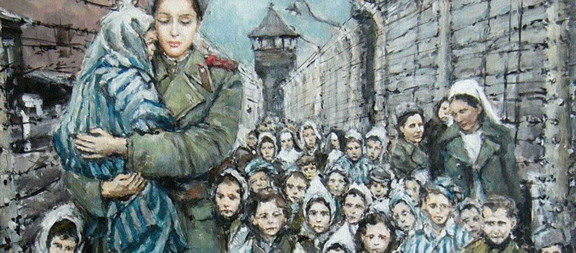 """Obraz Stanislava Sedláčka """"Madona z Osvětimi"""" - Sputnik Česká republika, 1920, 22.03.2021"""