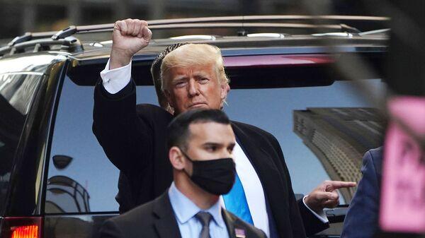 Бывший президент США Дональд Трамп в Нью-Йорке  - Sputnik Česká republika