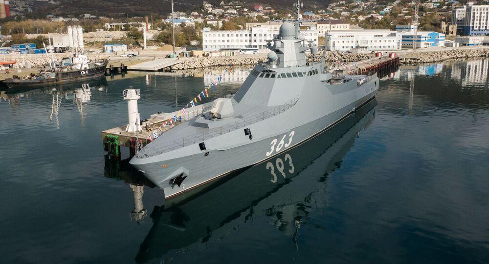 Ruská hlídková loď Pavel Děržavin