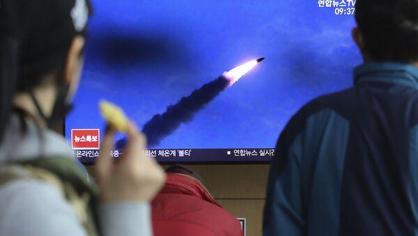 Záběry startu raket v Severní Koreji. Ilustrační foto - Sputnik Česká republika