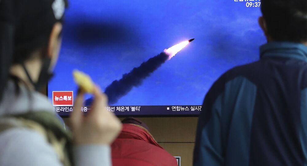 Záběry startu raket v Severní Koreji. Ilustrační foto