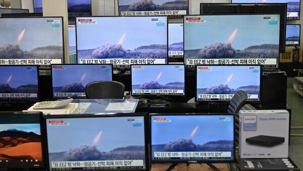 Zprávy o startu severokorejských raket v Soulu - Sputnik Česká republika