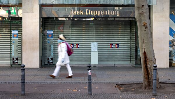 Zavřený obchod v Německu během lockdownu - Sputnik Česká republika