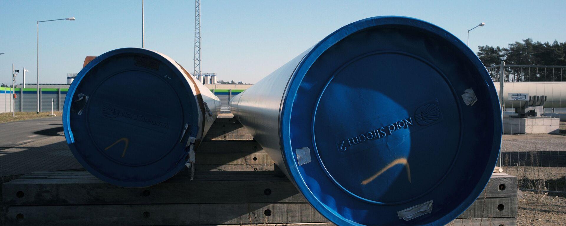 Pobřežní objekty plynovodu Nord Stream 2 v německém Lubminu - Sputnik Česká republika, 1920, 21.07.2021