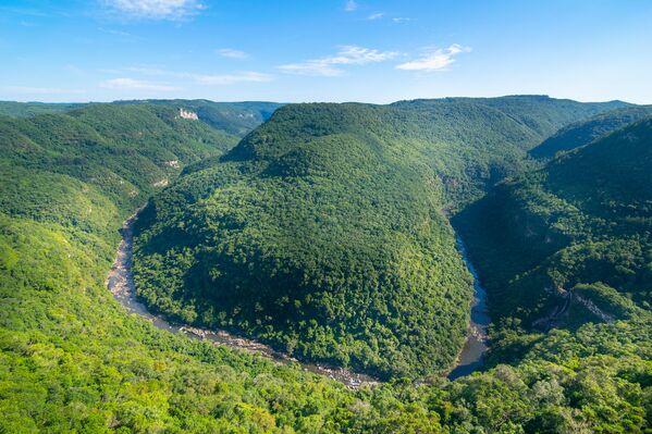 Výhled na kaňon Ferradura ležící v parku Parque Vale da Ferradura, Brazílie. - Sputnik Česká republika
