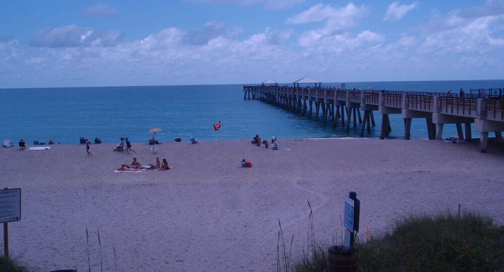 Místo, kde došlo k útoku žraloka