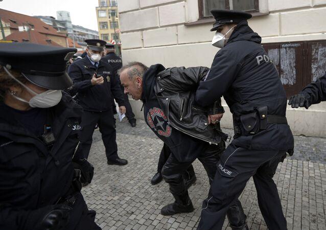 Protesty v Praze. Ilustrační foto
