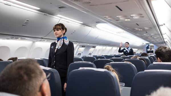 Letušky v kabině letadla - Sputnik Česká republika