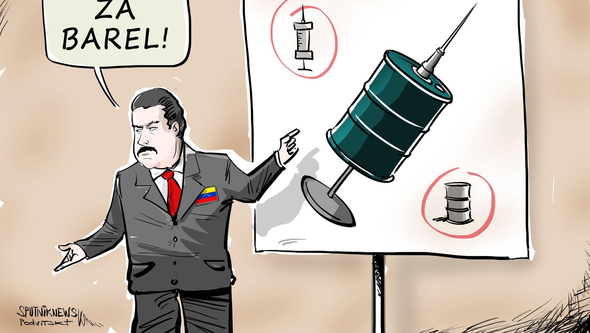 Maduro nabídl ropu výměnou za vakcíny proti koronaviru - Sputnik Česká republika, 1920, 29.03.2021