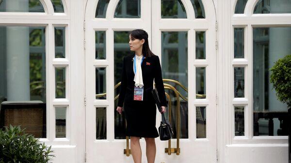 Kim Jo-čong během druhého summitu USA-KLDR v Hanoji - Sputnik Česká republika