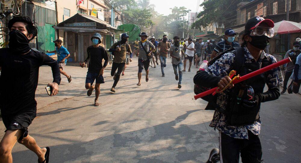 Protesty v Barmě