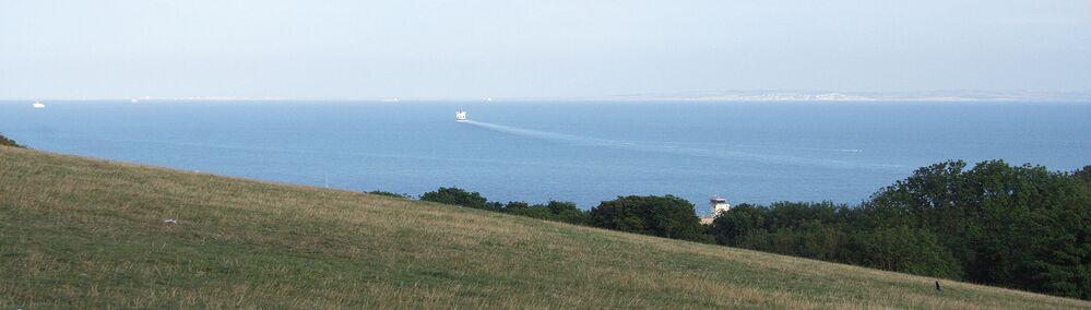 Pobřežní linie Dover v hrabství Kent