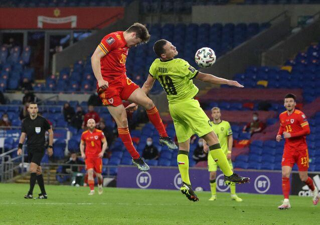 Fotbalový zápas českého týmu proti Walesu