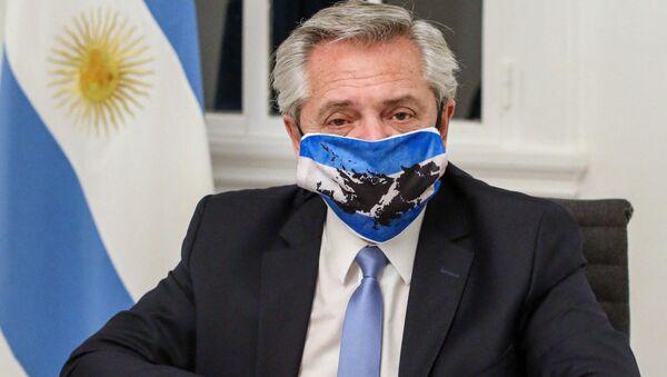 Argentinský prezident Alberto Fernández  - Sputnik Česká republika